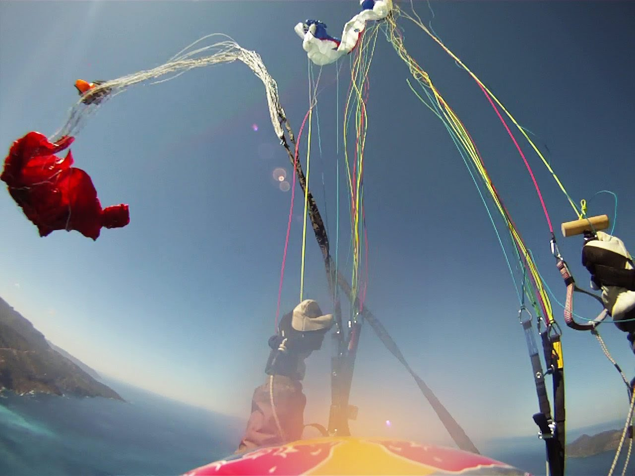 Paraglider tandem acro test flight gone bad - spectacular